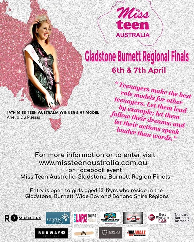 Entries close 9th March!!😲😲😲 Do you have your entries in yet?  Enter at www.missteenaustralia.com.au  #r7model #r7 #mta #missteenaustralia #gladstoneregion #gladstonefinals