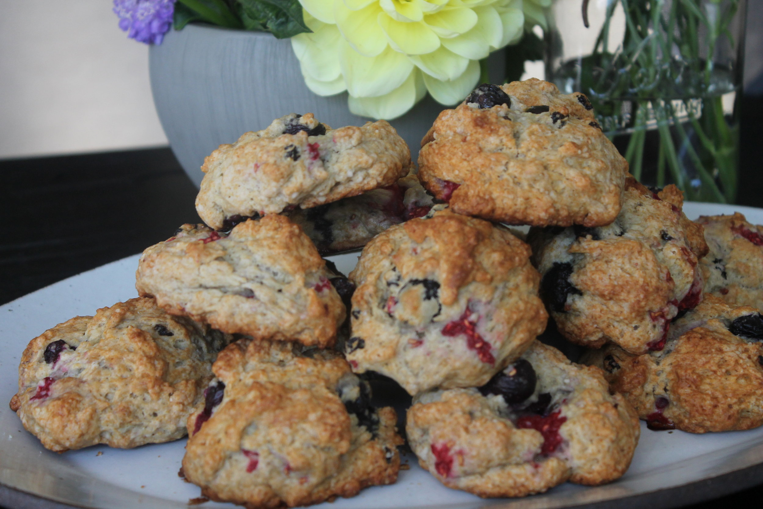 Summer Berry Scones made from recipe in  Once Upon a Tart  cookbook
