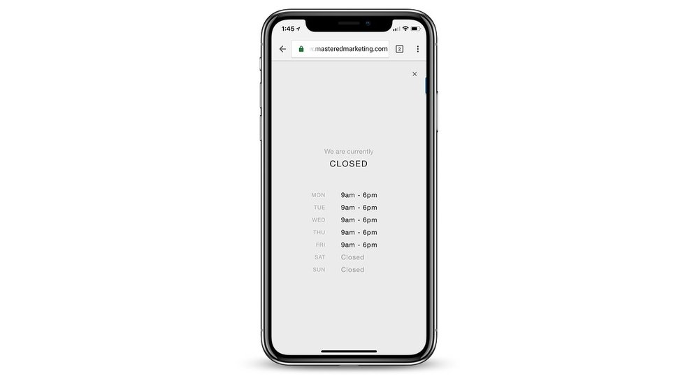 squarespace mobile information bar