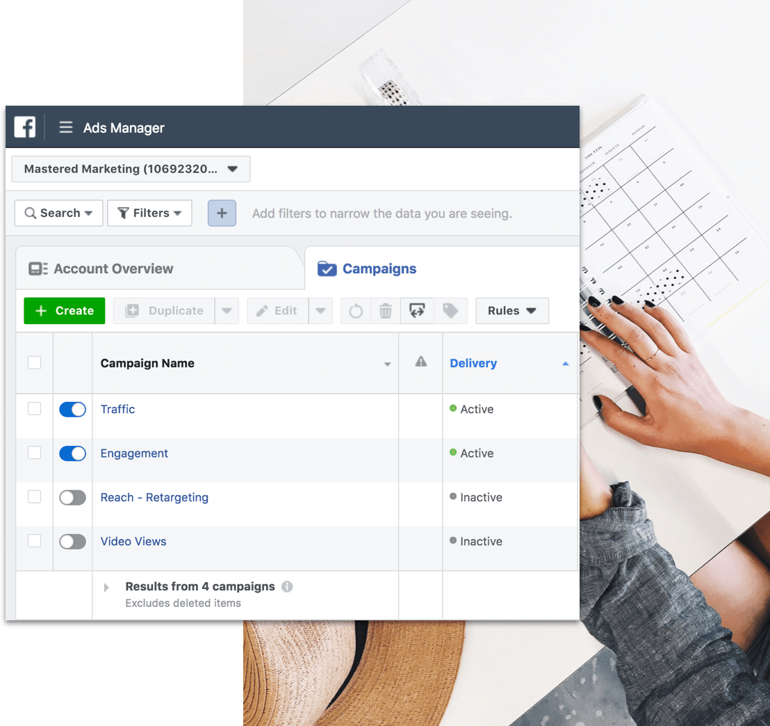 Lead generation & Facebook ads - Using a combination of Facebook, Instagram, Google Ads & funnels to generate leads and prospects into your pipeline with a systematic approach.