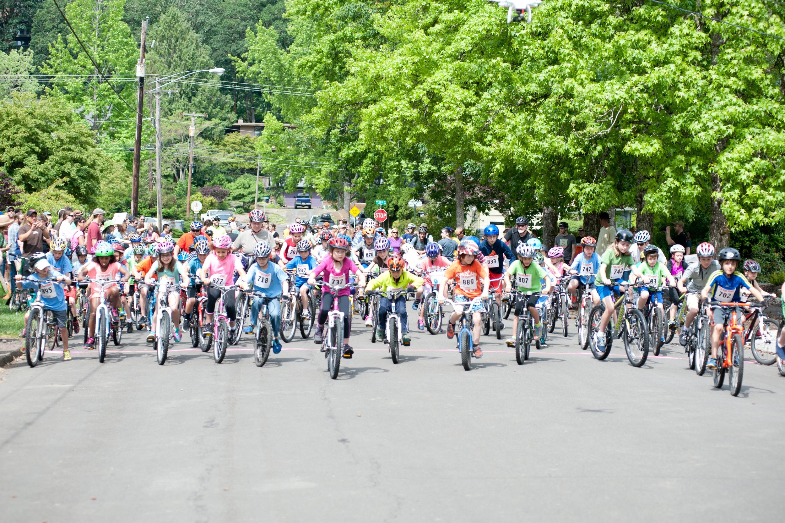 The Starting Line. In 2016, a record 286 kids registered to ride. The Road Ride is open to kids 12 and younger and requires paid registration (scholarships available). The Cycle Fair is free and open to the public.