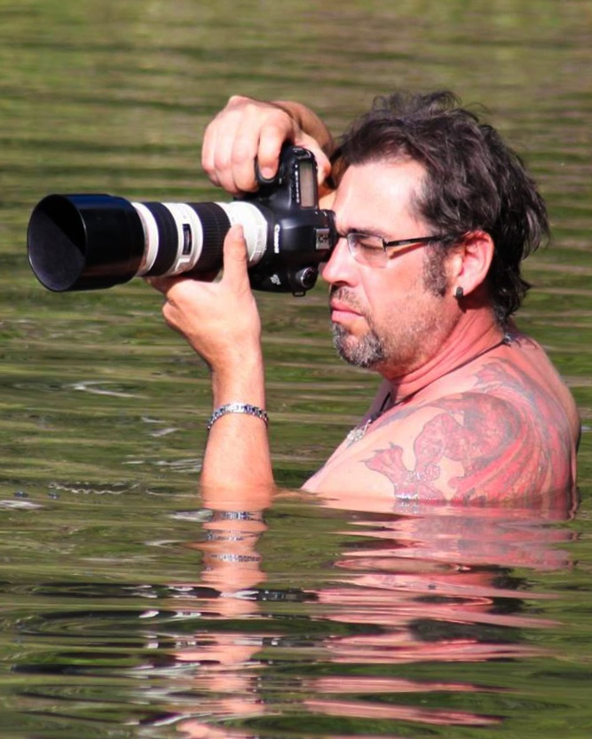 Darran in the water during the TriConic Swim race risking everything to get the right shot. -