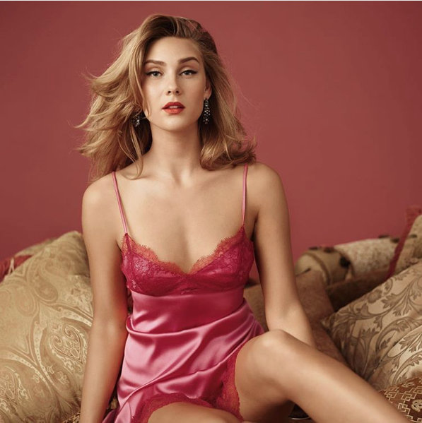 NKiMode | Annabella Miss-Behave Chemise in Cerise
