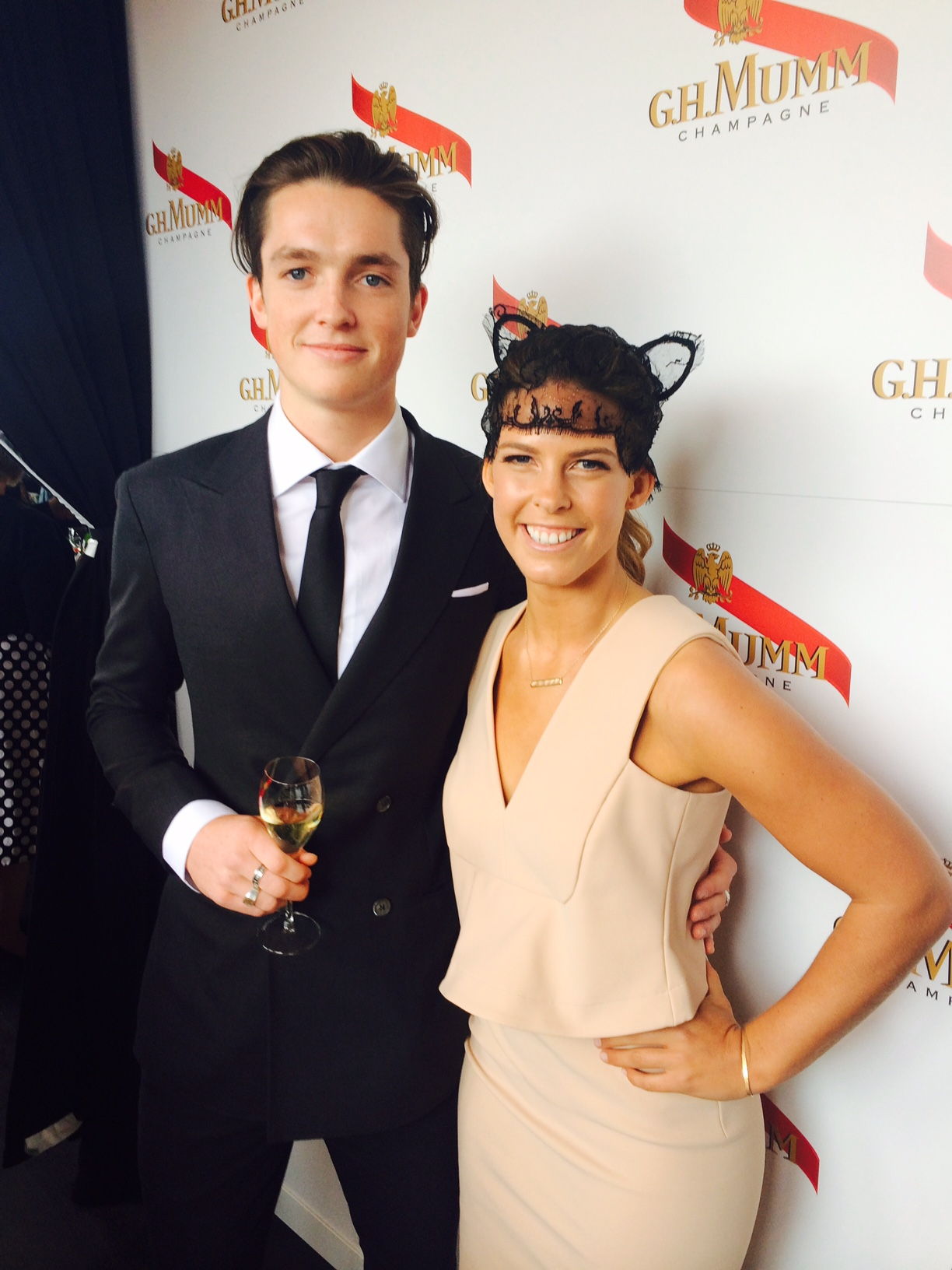 Winter Olympians Scotty James & Torah Bright - Melbourne Cup Day 2016