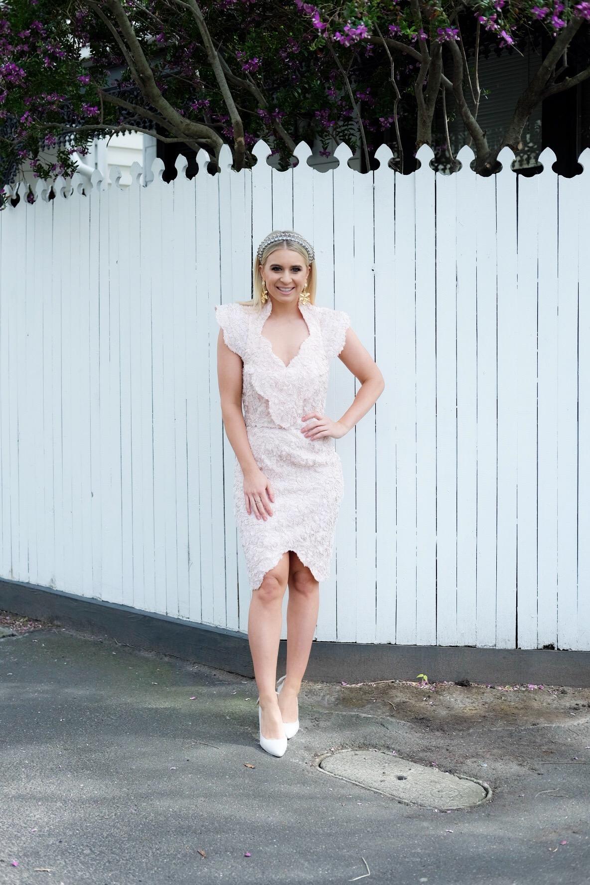 Emma Davenport Channel 7 Reporter - Melbourne Spring Racing Carnival 2017