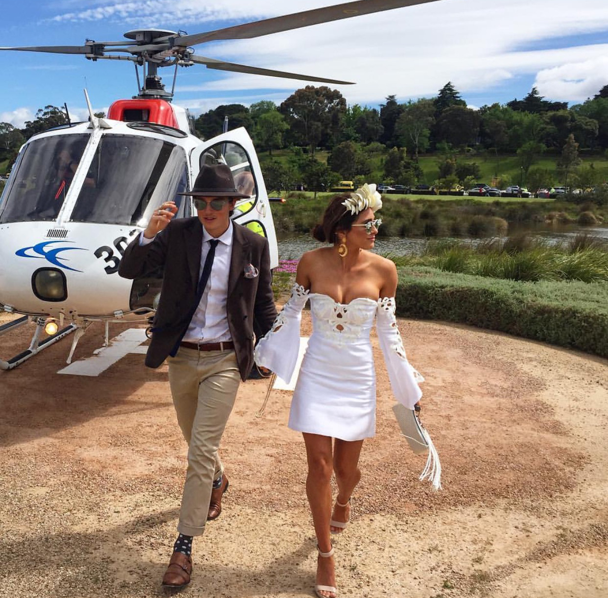 Winter Olympian Scotty James & Pro Surfer Ivy Miller - Melbourne Spring Racing Carnival