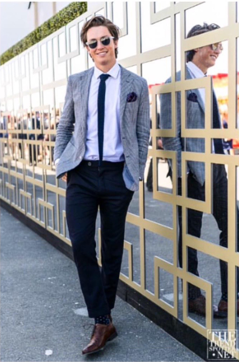 Winter Olympian Scotty James - Melbourne Spring Racing Carnival