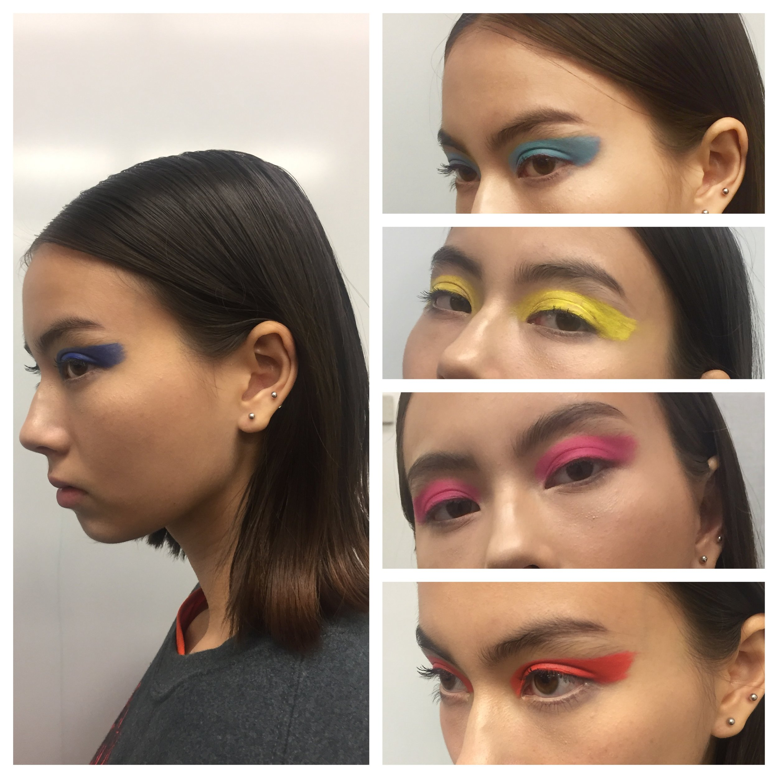 Here are some close up #BTS photos of Lala's colorful eye makeup I got to do for the editorial. So much fun!