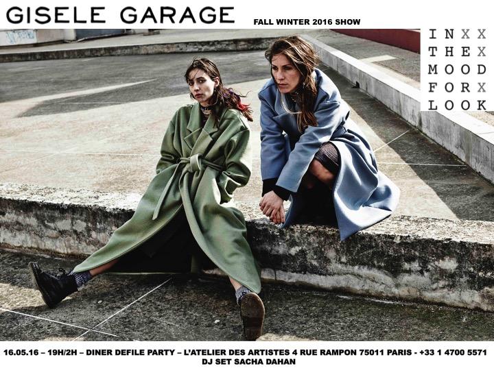 Gisele Garage Fall WInter 16 Show Invite