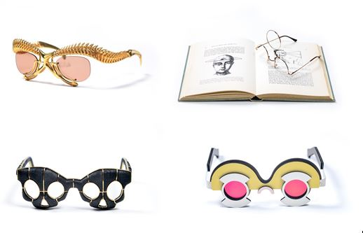 Top left: Personalization in the Age of Experience by Anuk Yosebashvili and Yaron Shmerkin in collaboration with Immersive Customization Top right: The Third Eye by OTOTO Bottom right: Florentin by Omer Polak Bottom left: Siamese Glasses by Gregory Larin