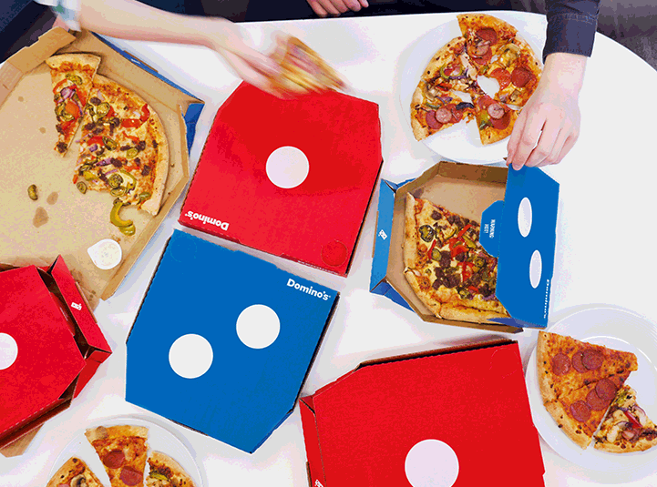 New pizza boxes for Dominos Pizza
