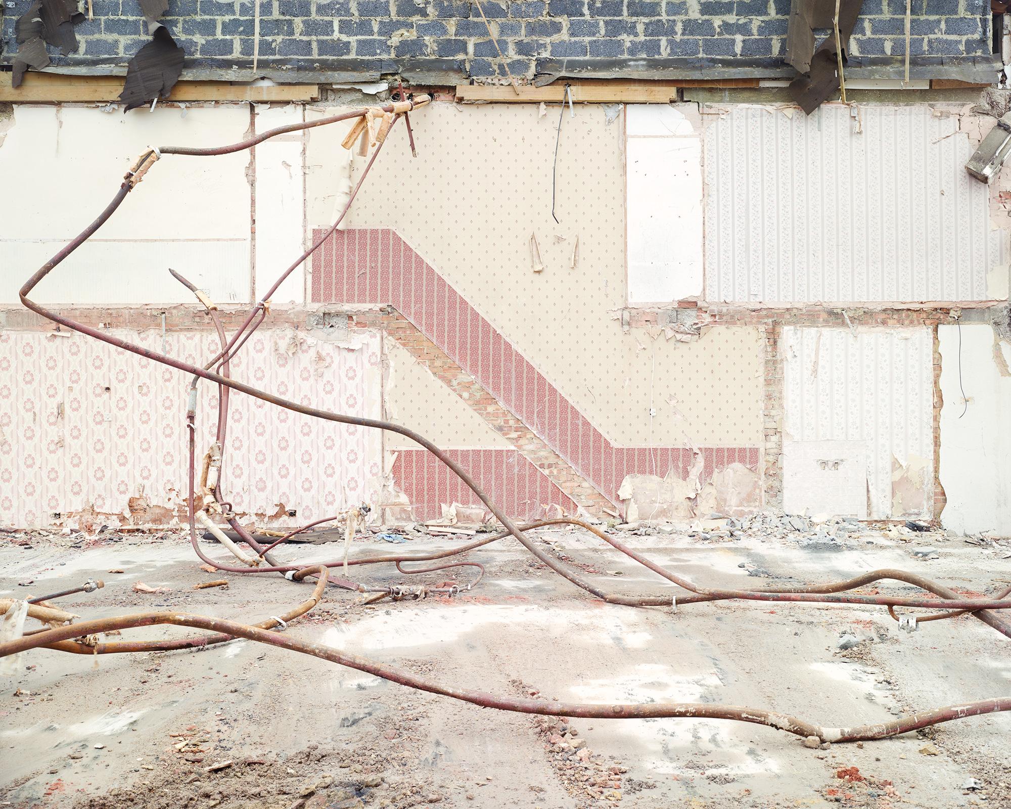 Demolition of Ferrier Estate, Kidbrooke Park Road, London, 2012. C-Type print, 80cm x 100cm © Alan McFetridge