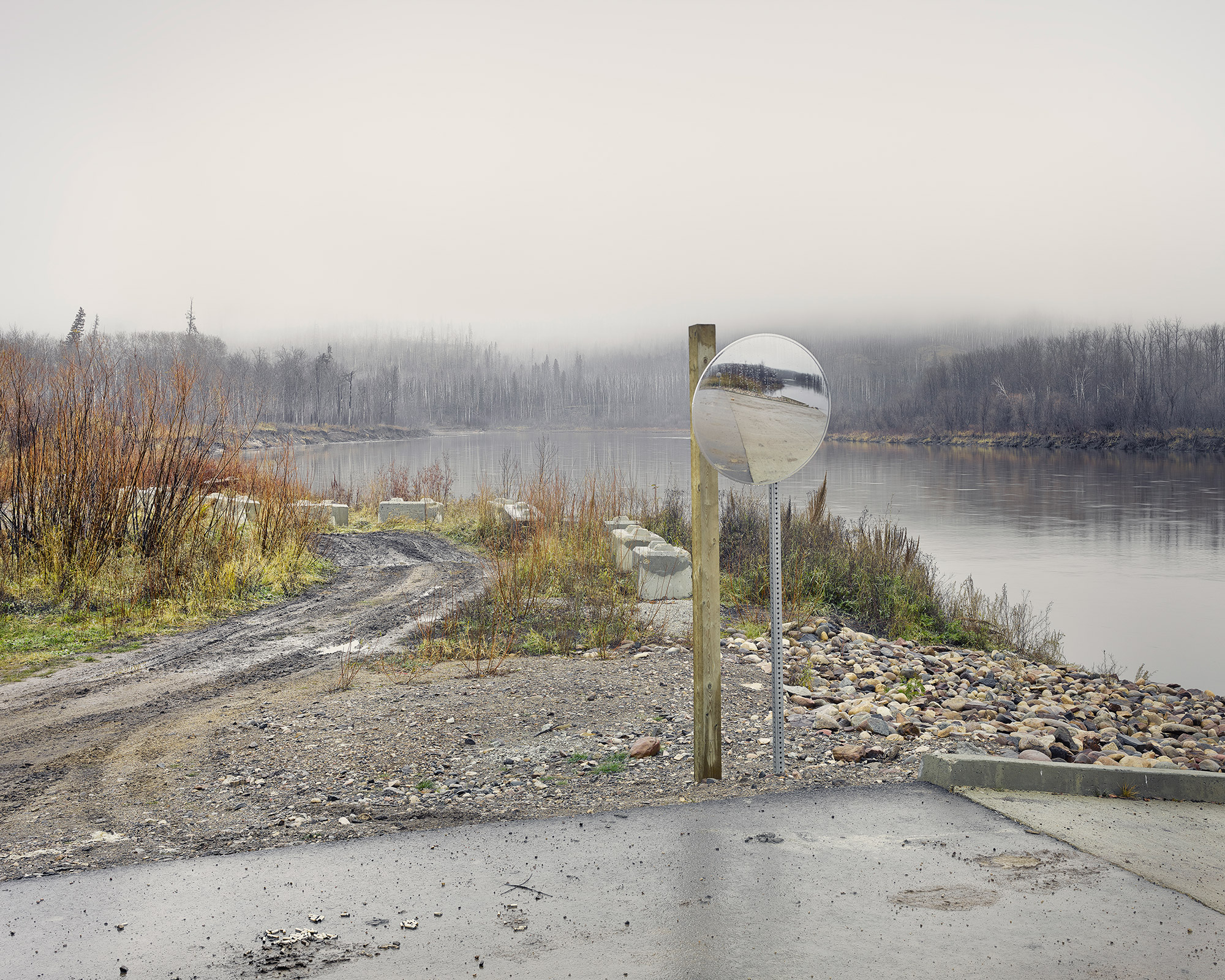 Clearwater River Boat Ramp,  Fort McMurray, Canada November, 201