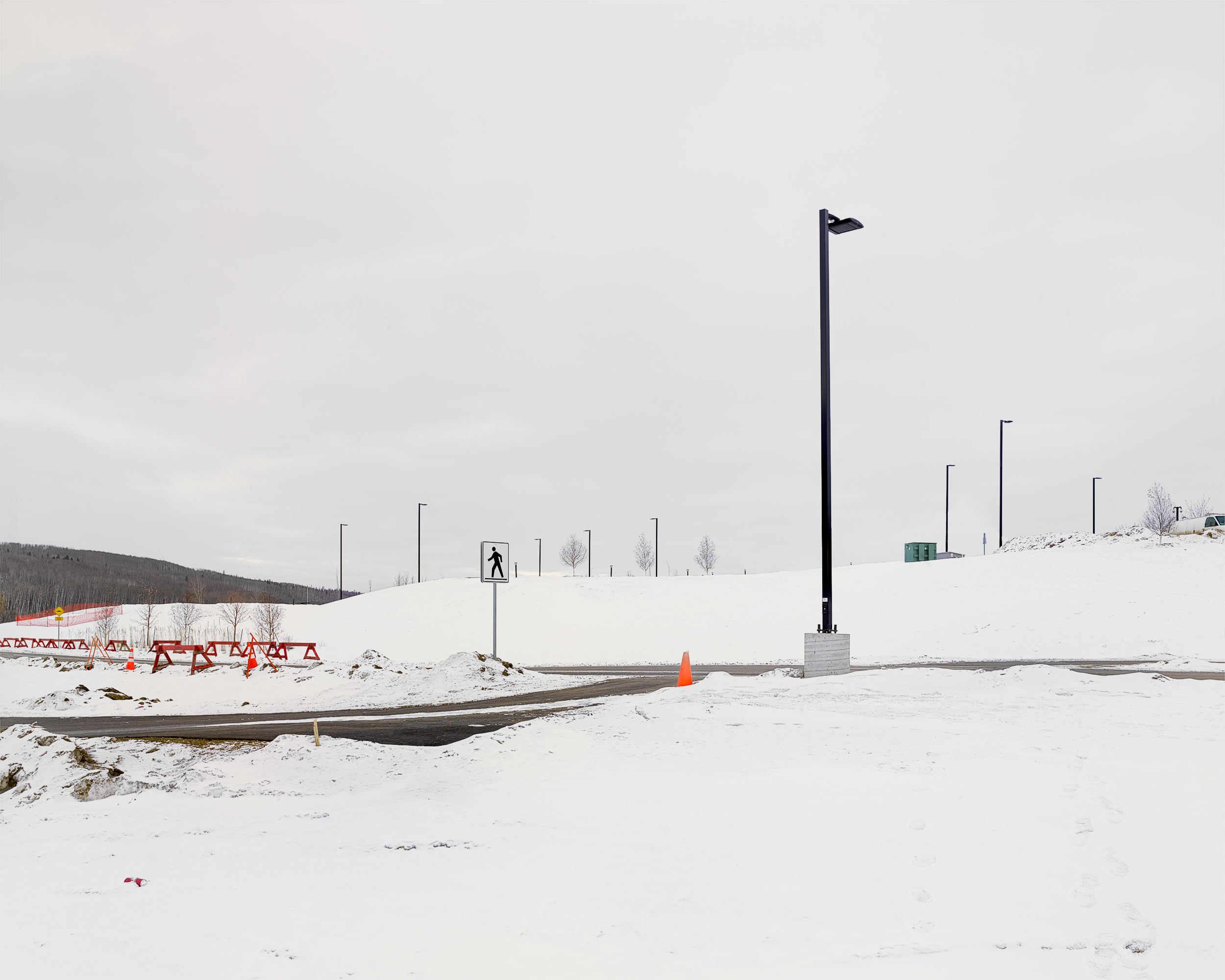 Hardin Road, Fort McMurray, Alberta, Canada. February 2017