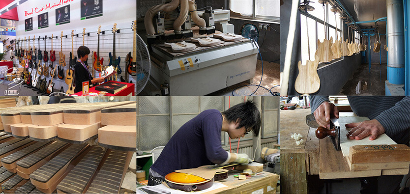 Here is a look inside Badcats' electric guitar manufacturing facility in Northern China.