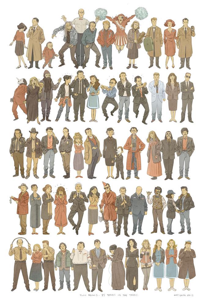 Twin Peaks Sketch Print