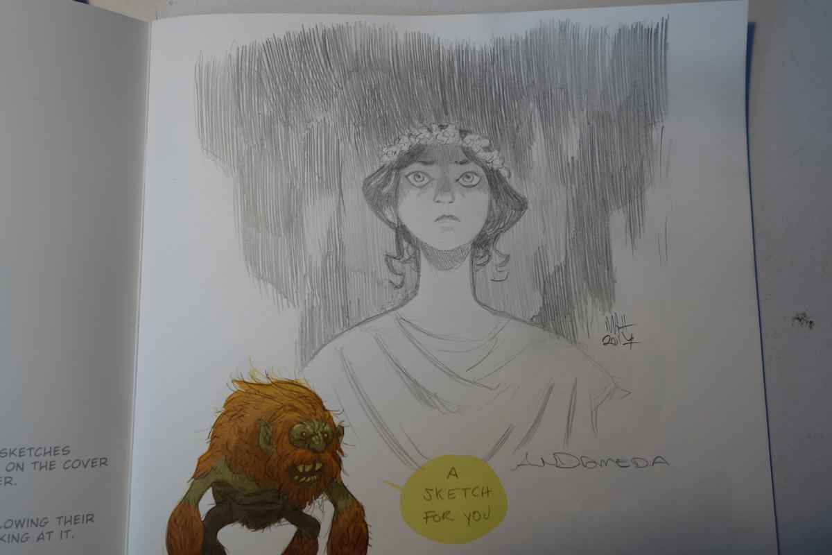 printed sketchbook sketch