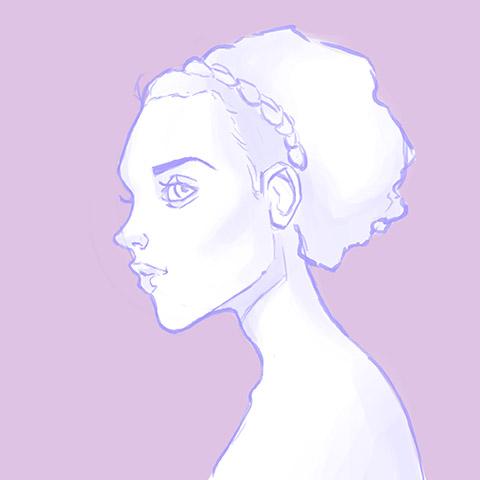 Lavender POrtrait Study