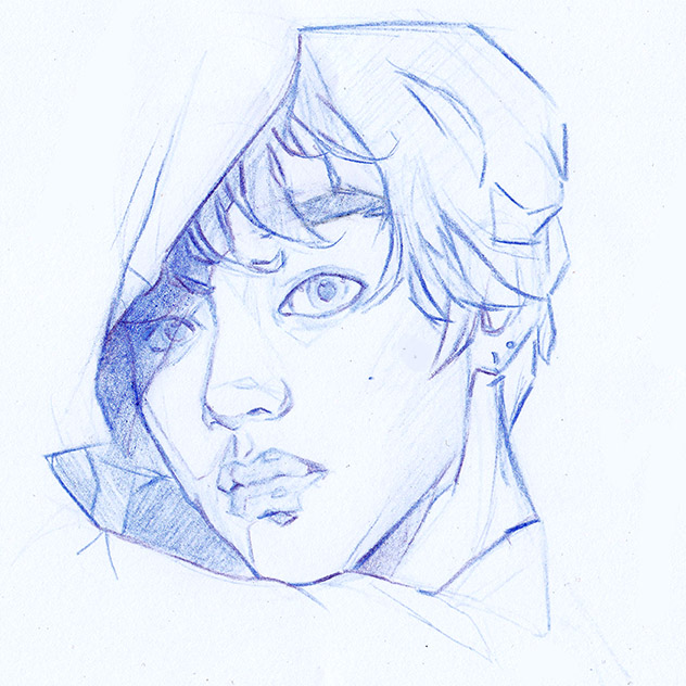Taehyung Portrait Study