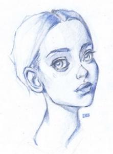 Blue Portrait Study