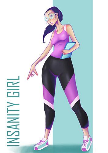Gym Peeps: Insanity Girl
