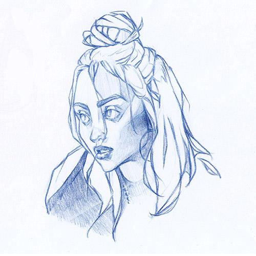 Billie Eilish Portrait Study