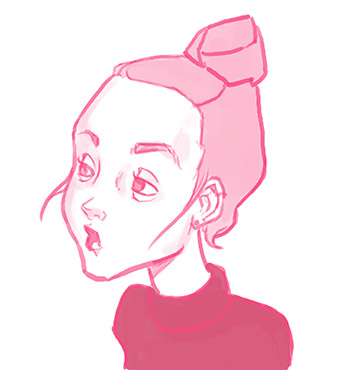 Pink Portrait Syudy