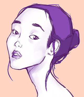 Mauve Portrait Study