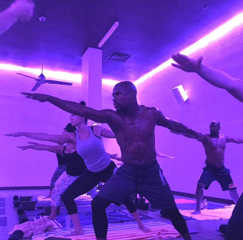 Floyd Mayweather Yoga
