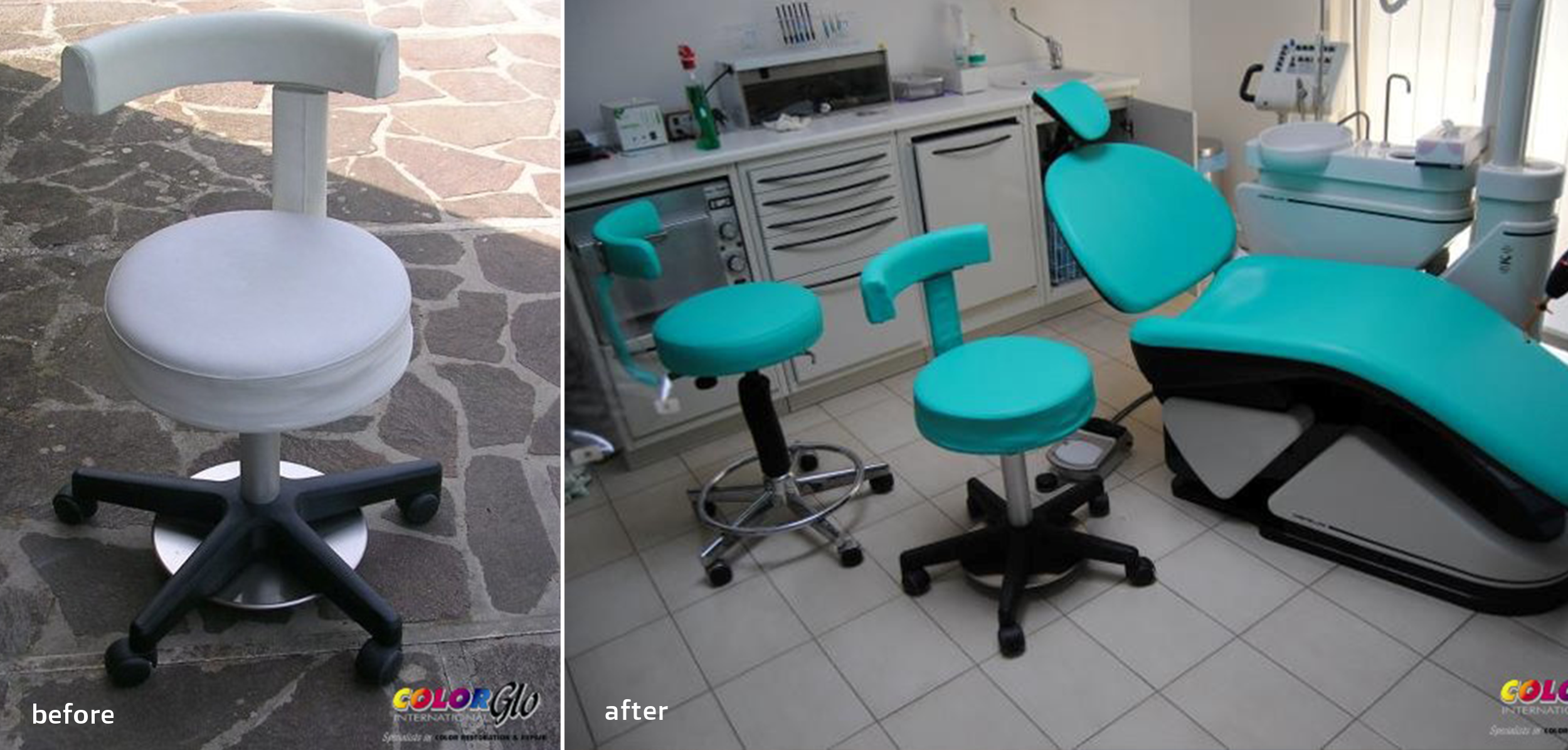 Dental Chair Restoration by Color Glo International