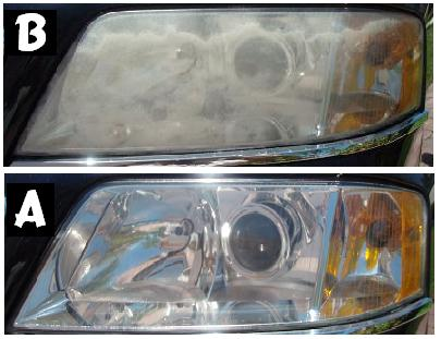 Headlight restoration by Color Glo International