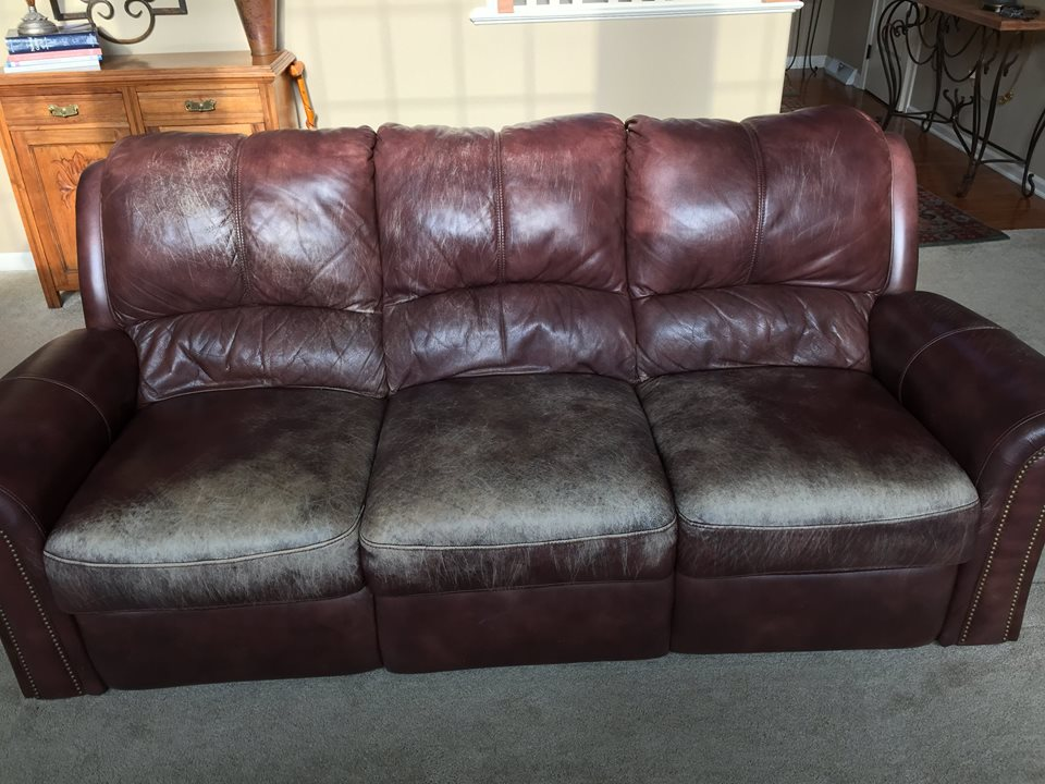 Worn Couch - Before Photo