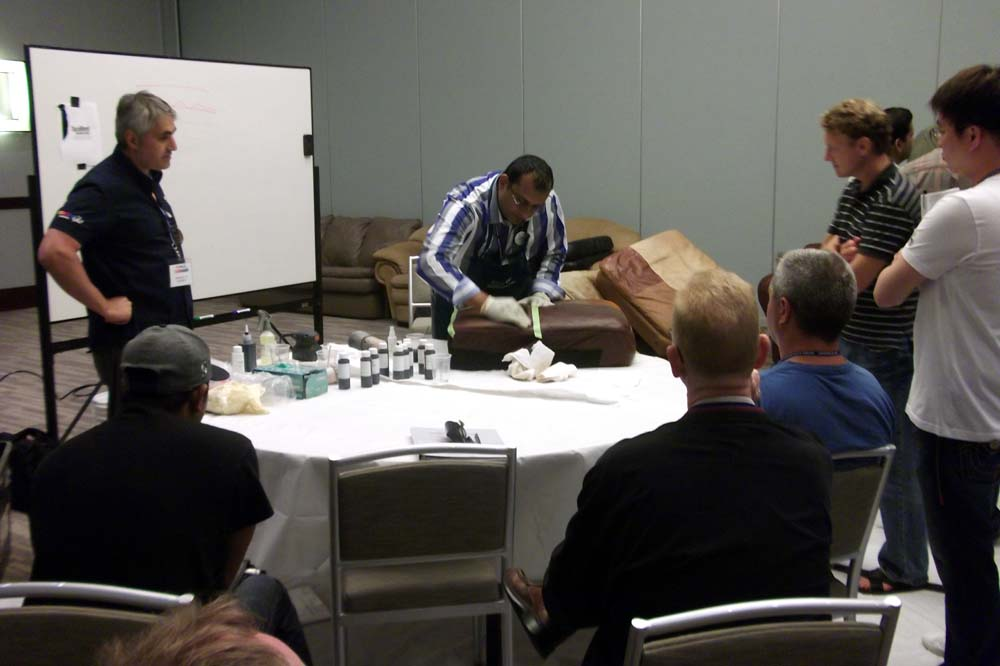 Ruben facilitating a Color Glo product training.