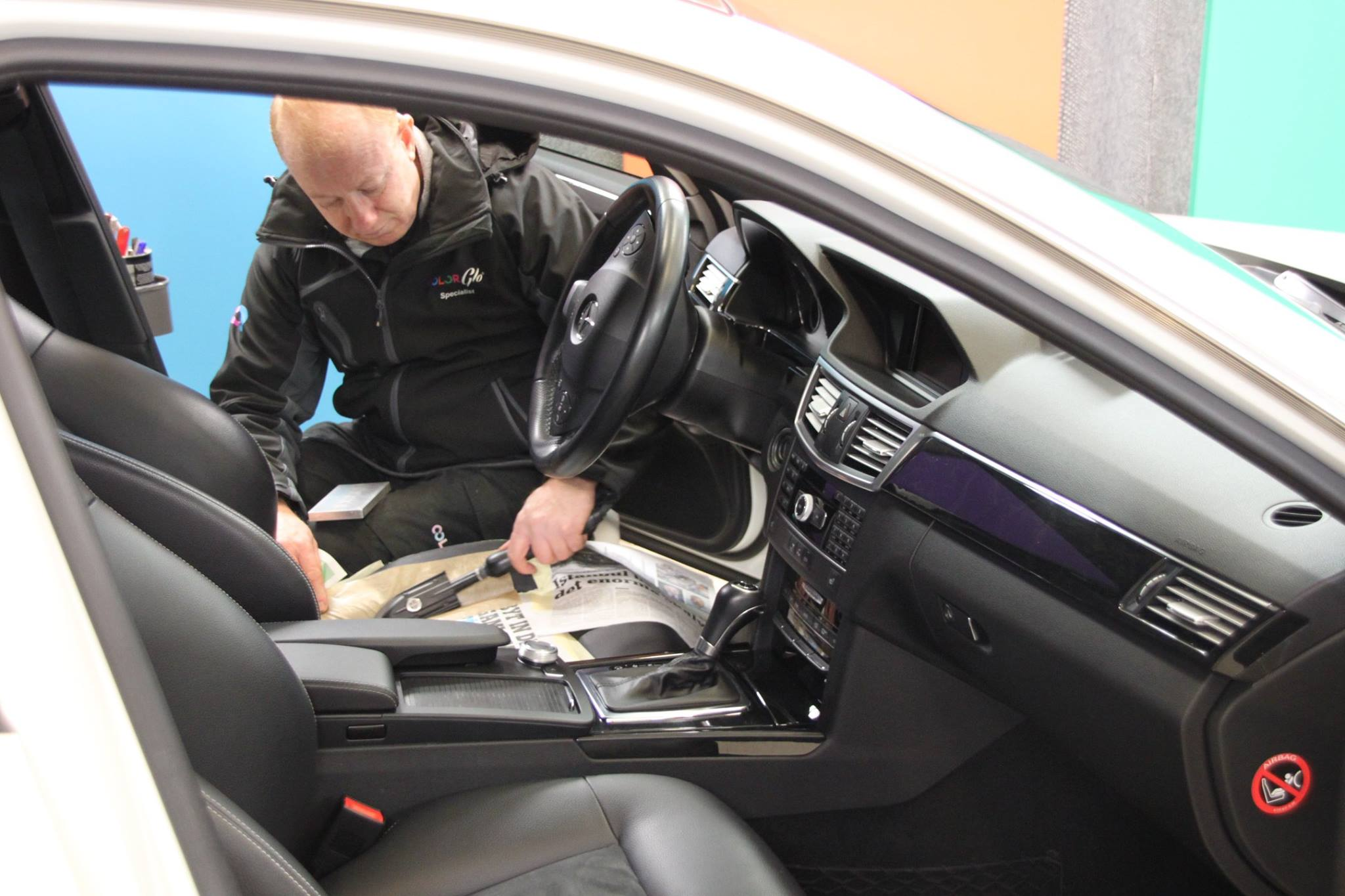 Color Glo specialists work to repair worn auto interiors and bring them back to life.
