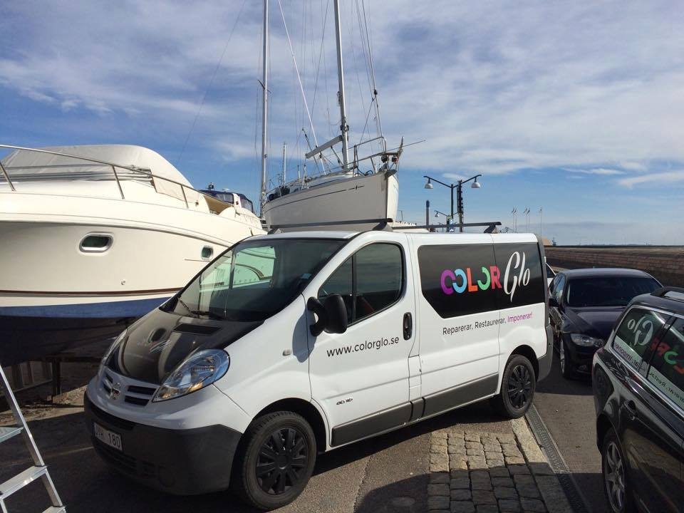 Color Glo on location around the world for boat and marine restoration