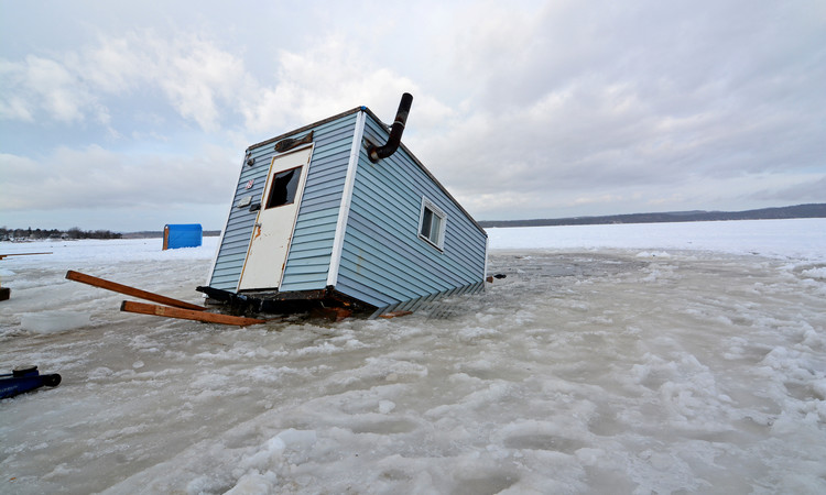 It's possible your ice fishing house needs a little color restoration… Photo: telegraphjournal.com