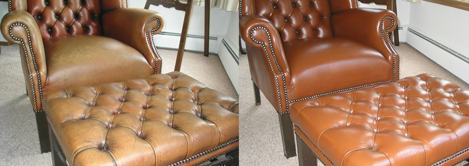 BEFORE / AFTER - Leather Chair Restoration