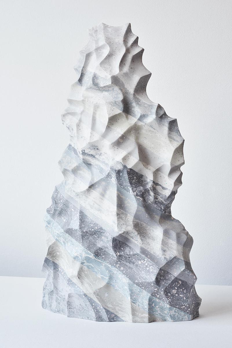 Knapped   Jesmonite  50 x 27 x 15cm  2019  Image by Seb Camilleri