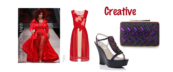 creative style personality red dress