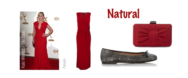 natural style personality red dress