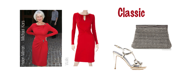 classic personality red dress