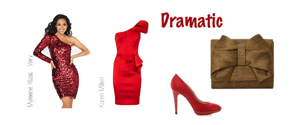 dramatic style personality red dress