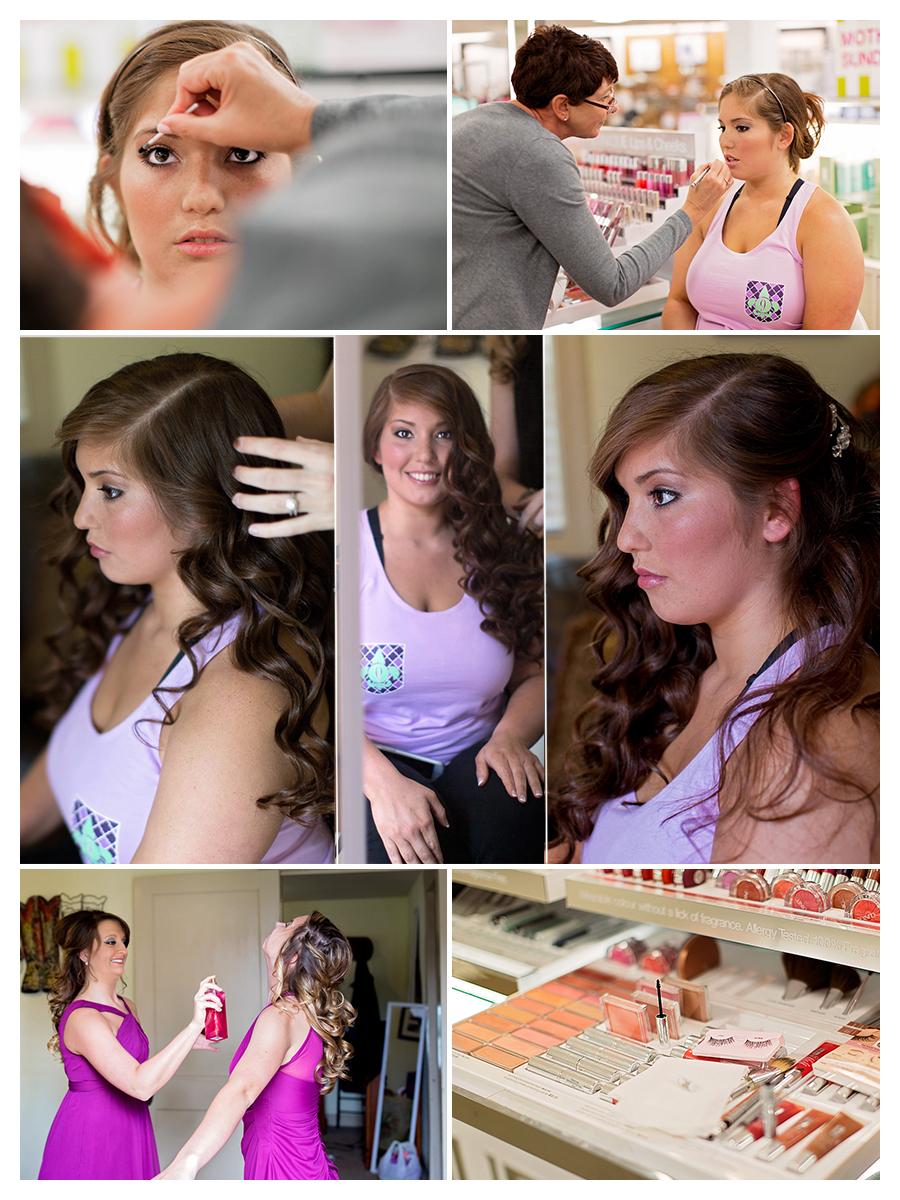 Wedding Girls Getting Ready