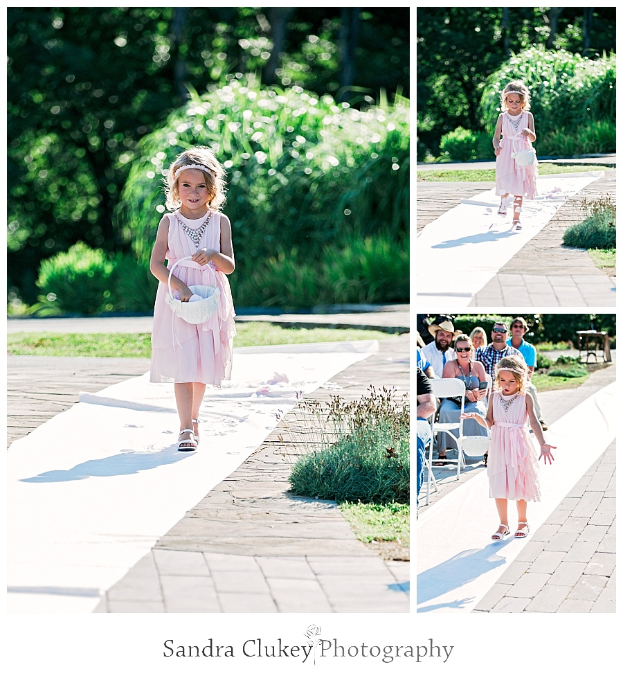 Flower Girl at Whitestone Inn Wedding