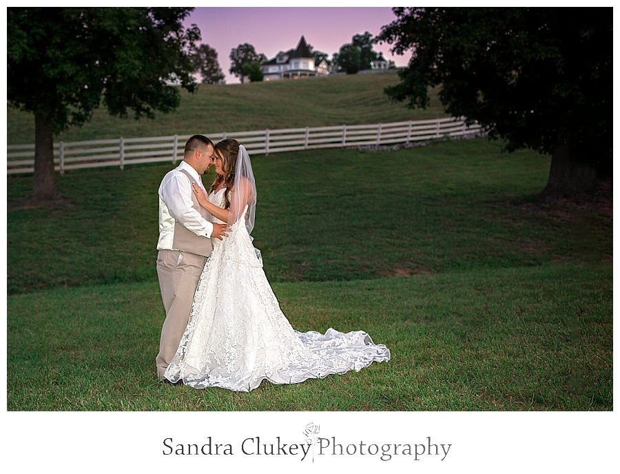 Bridal Couple at Whitestone Inn