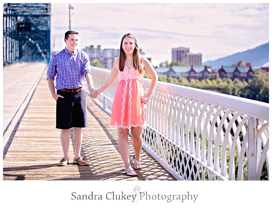Couple on Walking Bridge, Chattanooga