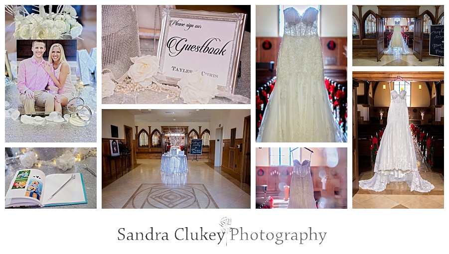 More bride details of wedding day