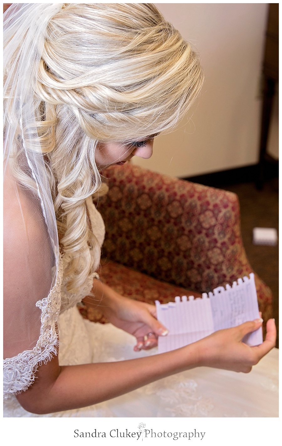Bride with letter