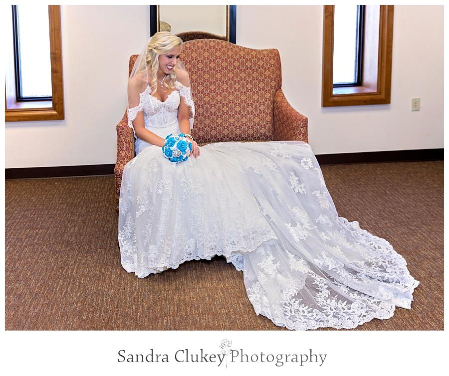 Bride waits in Lee University Chapel