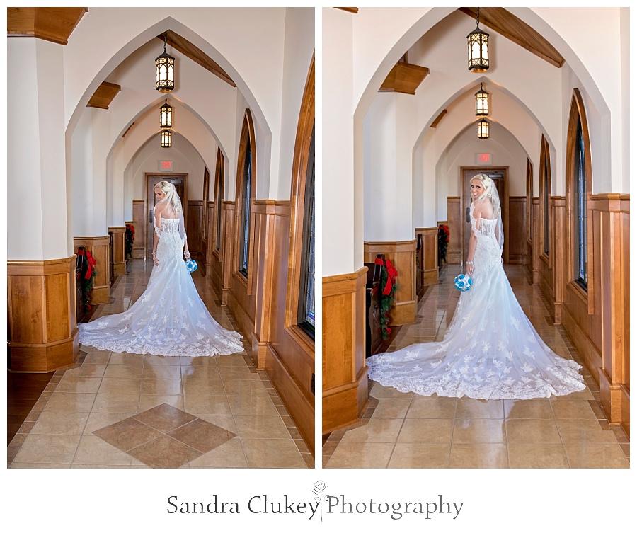 Bride at Lee University Chapel, TN